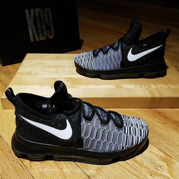 official photos 15eda 1733e Nike Zoom KD9 GS Oreo Kids Shoes Sz 6.5 , 7 - 0218